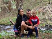 Джена и семейството й се любуват на Витоша планина