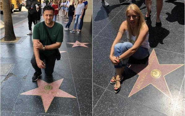 Емилия и Жорж Башур на пътешествие в Лос Анджелис