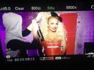 Юнона се разголи за снимки на нов видеоклип