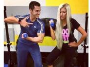 Андреа вае тяло във фитнеса на Кубрат