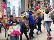 Емилия на романтично пътешествие до Ню Йорк с новия си любим мъж width=
