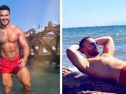 Мускули и червени бански от мъжете в поп-фолка width=