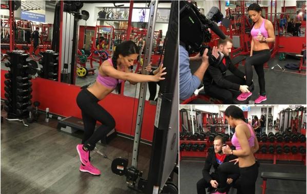 Джулия вае тяло ежедневно във фитнеса