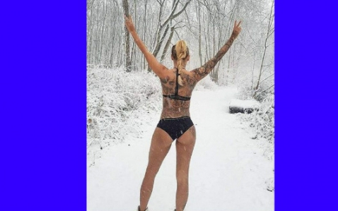 Цветелина Грахич се пусна гола в снега