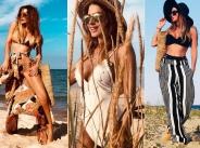 Секси тяло демонстрира Есил Дюран на плажа